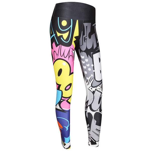 CHRLEISURE Women Digital Printing Leggings Workout Leggings High Waist Push Up Leggins Mujer Fitness Leggings Women'S Pants