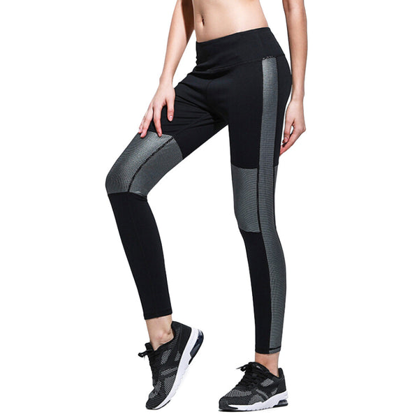 Women's Elastic Yoga Pants Flexible Leggings Fitted Sports Stretchy Tights Trousers