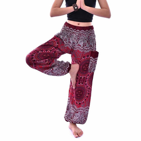 Men Women Thai Harem Trousers Boho Festival Hippy Smock High Waist Pants trousers pants for Women's pants #ghc