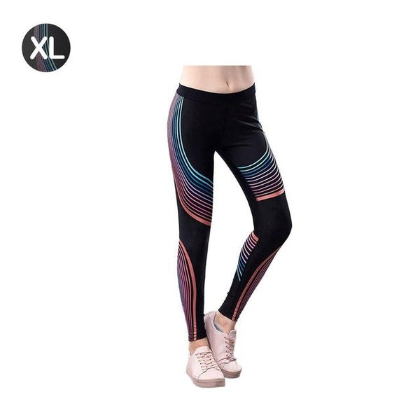 Streamers Leggings Sports Yoga Pants Fitness Leggins Women's Elastic Tight Compression Pants Quick-drying Exercises Gym Trousers