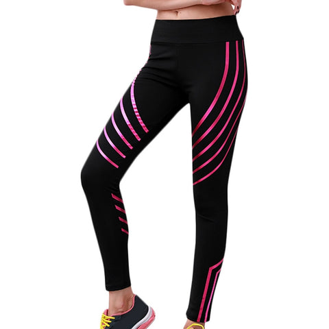 Polyester 2018 Casual Women's Sportwear Leggins High Waist Push Up Fitness Legging Pants Elastic Workout Leggings For Women