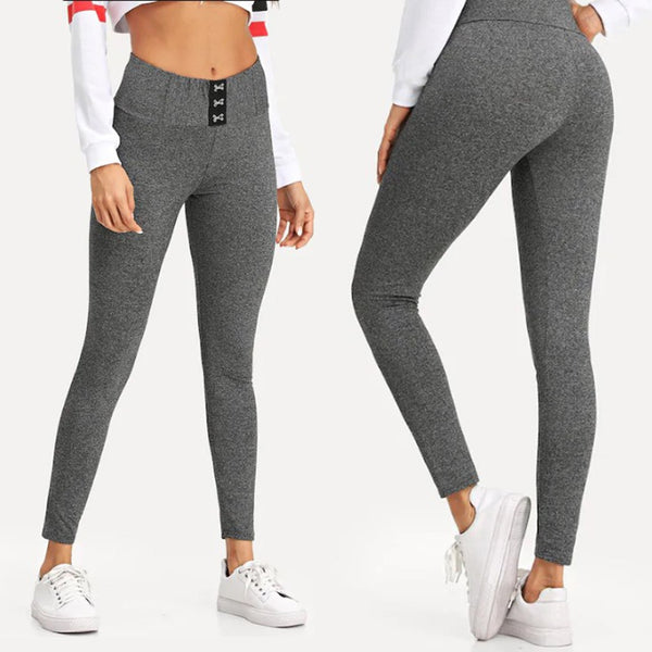 Women's Fashion Solid Workout Outdoor Leggings Fitness Sports Gym Running Athletic Long Pants Trousers #30