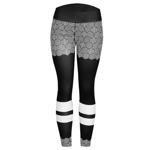CHRLEISURE Fashion Printed Leggings Women's Sporting and Fitness Leggins Mujer High waist Black leggings Female