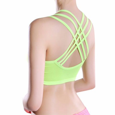 Women's Vest Bra Crop Top Seamless Fitness Bra Fitness Stretch Women Tanks Workout Bras Breathable Underwear Bra