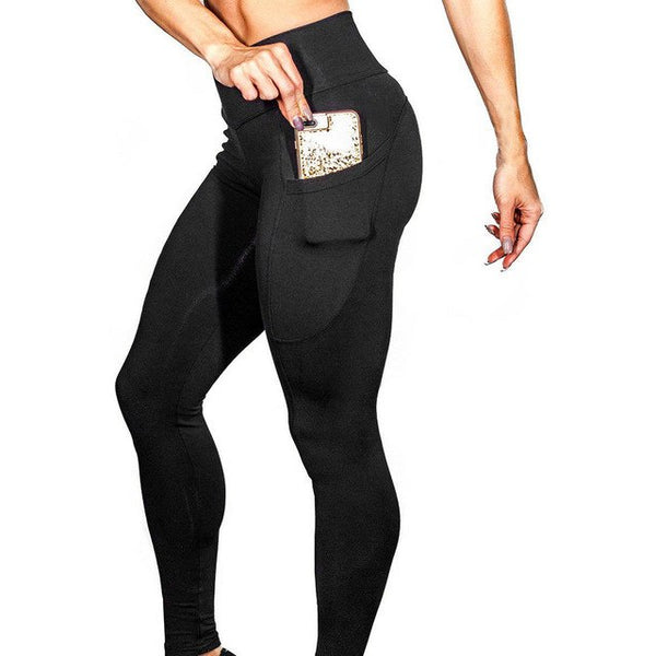Leggings Women's Solid Workout Leggings Women Fitness Polyester Skinny Leggins mujer Pants Black Casual Sexy Legging 19JAN29