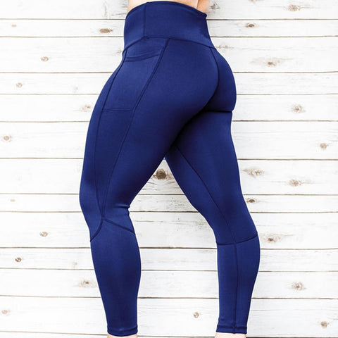 Women's Sports Pocket Yoga Pants Leggings For Women Running Pants Push Up Leggins