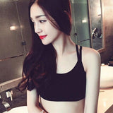 Women's Fitness Stretch Tanks Women Cropped Padded Bra Tank Top Vest Workout Bras W6