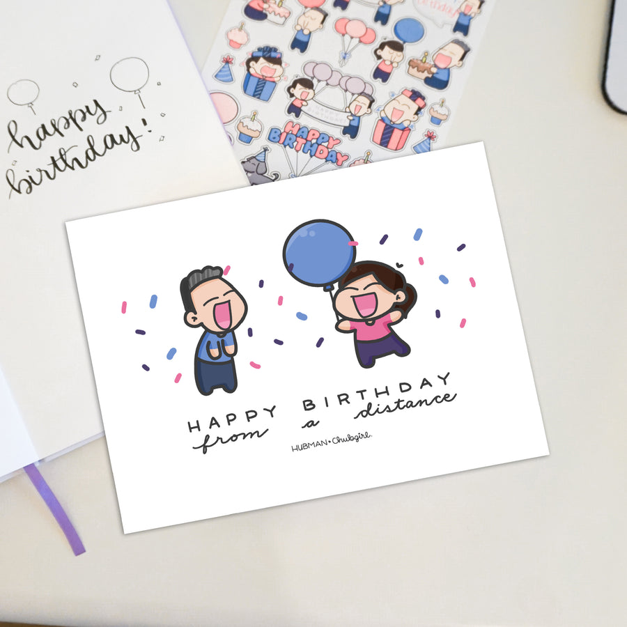 Happy Birthday from a Distance! Card