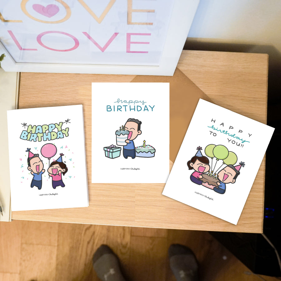 Birthday Cards [PACK OF 3] Collection 2