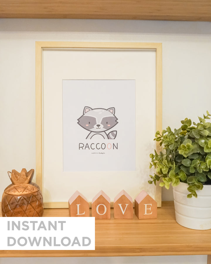 Animal Nursery Prints - Downloadable
