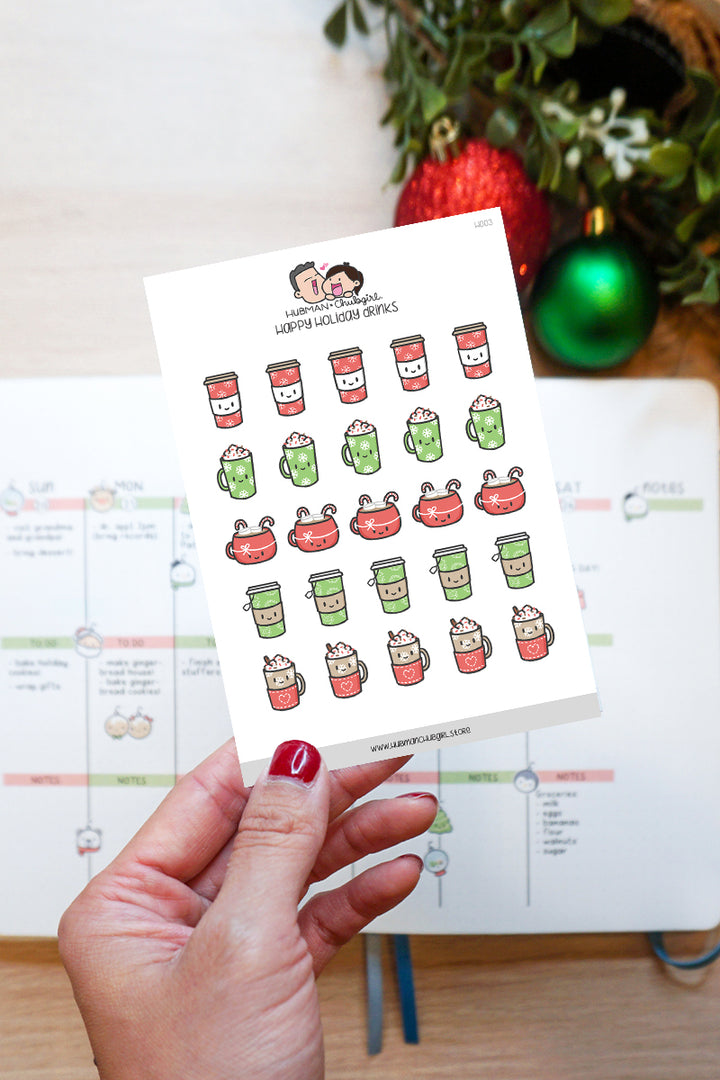 Holiday Drinks Planner Stickers