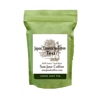 Japan Genmaicha Green Tea-Loose Leaf Tea-One Great Coffee