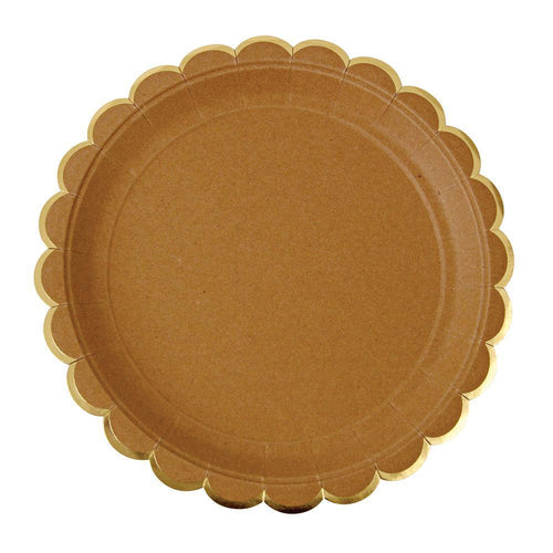 Kraft Scallop Edge Plates (large)