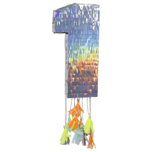 Silver One Party Pinata