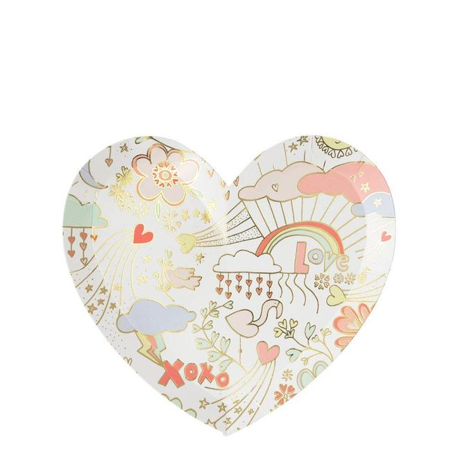 Valentine Doodle Small Plates