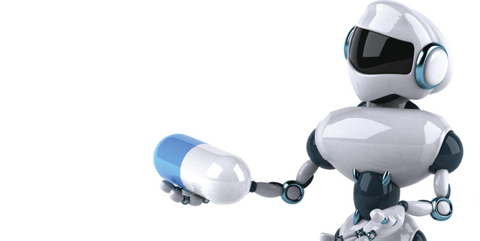 Hydrogen Therapy and the Future - A robot holds out medication