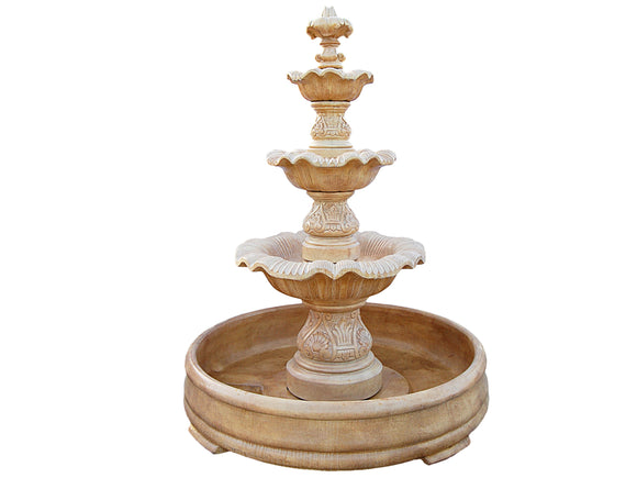 Renaissance 3 Tier Fountain with Pool Base