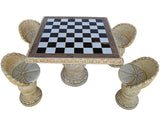 Chess Pattern Table Set with 4 Seats