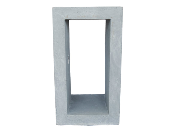 Contemporary Grey Fibercement Pedestal with Hole GA30-1165