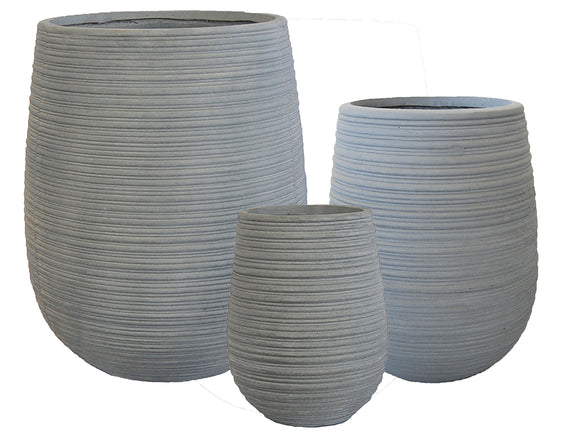 Striped Crucible Fibercement Pot GA30-1182