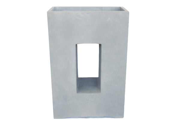 Contemporary Hole Rectangular Planter GA30-1336
