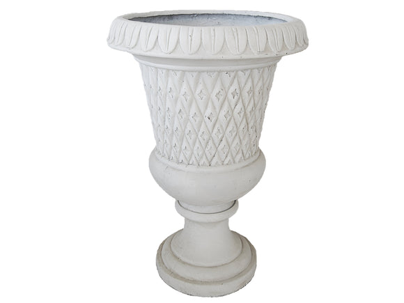 Royal White Fibercement Urn GA30-211
