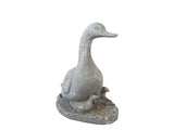 Duck with Ducklings Fibercement Statue GA40-1051