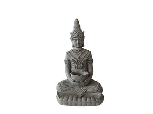 Sitting Buddha With Bowl Fibercement Statue GA40-683