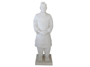 Extra Large White Tang Warrior Fibercement Statue GA40-828