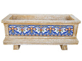 Azul Mosaic Rectangular Concrete Planter JR118