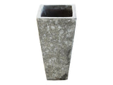 Tall Square Ancient Ceramic Pot LT003-2417