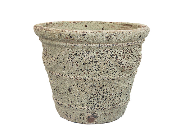 Crested Ancient Green Round Pot LT003-3013