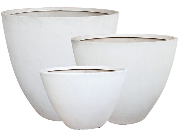 Poly Large Round White Bowl LT008-5137