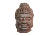 Ceramic Maroon Buddha Head