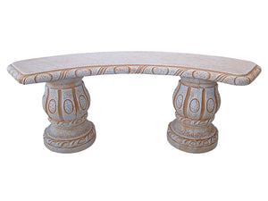 Curved Classical Bench with Natural Finish
