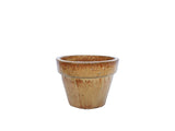 Glazed  XS Copper Flower Pot