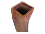 Glazed Tall Twisted Square Pot