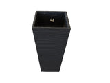 GA30 - 1184 Tall Stripe Square Pot