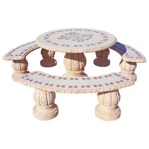 Alamo Circular Table Set Parsifal Rojo