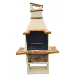 """Barby"" Barbecue Grill with Wood Finish"
