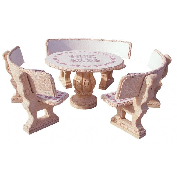 Castano Parsifal Rojo Circular Furniture Set With Back Rest