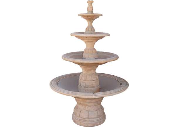 Grand Contemporary 4-Tier Fountain