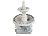 Marble Tiered Lion Fountain