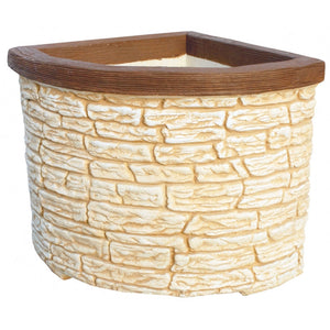 Mojacar Brick Design Corner Pot
