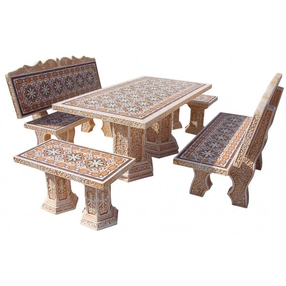 Moresco Goltis Mosaic Furniture Set with Back Rest
