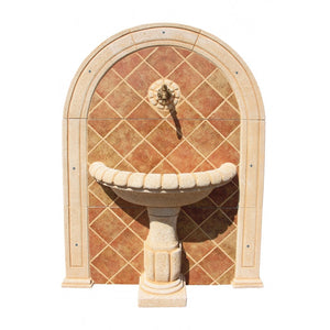 Simbal Tostado Mosaic Wall Fountain (Wall Drilling Required)