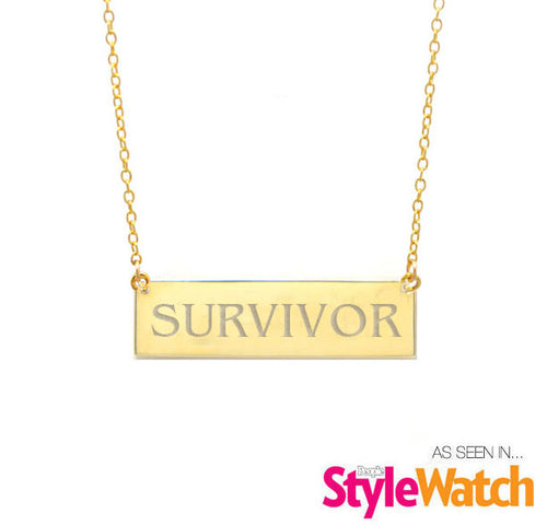 People Style Watch - Survivor- Custom Phrase Plate