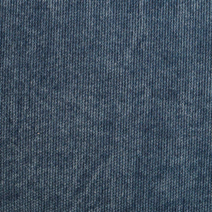 cojín denim  azul medio con cremallera  decorativa de color mostaza 45*45