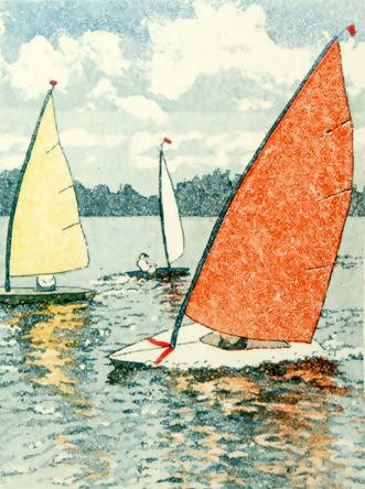 Free Board, Jan Dingle, Limited Edition Print, Sailboat