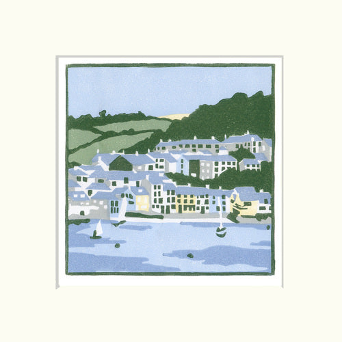 A cornish village - Fiona Carver - Limited Edition Print - Linocut print 2